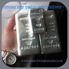 Wow! Now that's what you call silver...  The Bloke's been buying bullion as an investment and squirreling it away...two and a half kilos of silver, just imagine all the shiny treasure I could make with that   #jewellery #jewelry #silver #handmade #original  www.thebuttonprincess.co.uk