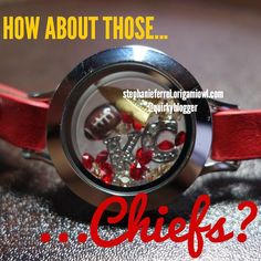 KC Chiefs inspired locket #KCChiefs #football #OrigamiOwl