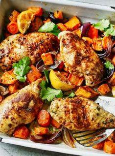 Low FODMAP and Gluten Free Recipe - Ras-el-hanout baked chicken http://www.ibssano.com/low_fosdmap_recipe_ras_el_hanout_chicken.html