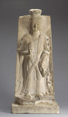 Northern Wei Dynasty Figure of Bodhisattva, circa 525 AD, carved sandstone