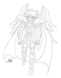 Shun armure de la vierge coloriage les chevaliers du zodiaque dibujos - Chevalier du zodiaque dessin ...