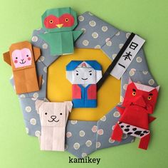 image Diy And Crafts, Crafts For Kids, Paper Crafts, Japanese Origami, Origami Paper, Flower Crafts, Dinosaur Stuffed Animal, Crafty, Toys