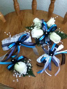 Blue n Sliver n Black Prom set 2013