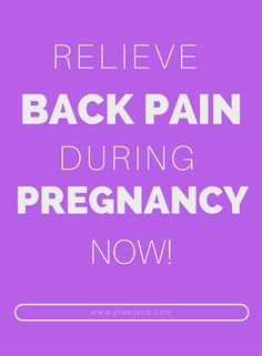 How to Relieve Lower Back Pain During Pregnancy Yoga For Back Pain, Relieve Back Pain, Low Back Pain, Pregnancy Back Pain, Pregnancy Tips, Lose Your Belly Diet, Back Fat Workout, Back Pain Remedies, Prenatal Workout