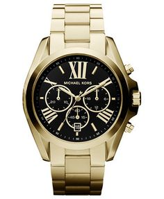 Michael Kors Women's Chronograph Bradshaw Gold-Tone Stainless Steel Bracelet Watch 43mm MK5739 - First @ Macy's!