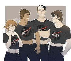 "Pidge and shiro are just smiling at Keith and lance like: ""OTP"""