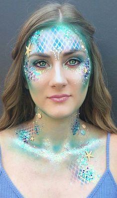 Fantasia carnaval # sirenas # sirena # sirena maquillaje – # sirena # sirena … – The World Mermaid Costume Makeup, Mermaid Halloween Costumes, Carnival Costumes, Mermaid Makeup Looks, Mermaid Fantasy Makeup, Mermaid Outfit, Mermaid Fancy Dress, Little Mermaid Makeup, Mermaid Makeup Tutorial