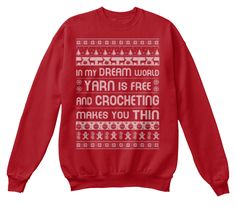 Love this awesome and funny sweatshirt. It's a best gift for crocheters :)