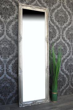 Spiegel Wandspiegel MANDY antik silber Barock 170 x 55 cm | eBay