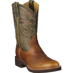 10002565 Mens Heritage Crepe Western Ariat Boots