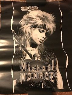 Michael Monroe - Rare Rock City News Poster - Hanoi Rocks - Guns N' Roses