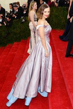 Rashida Jones in a gown by Tory Burch.