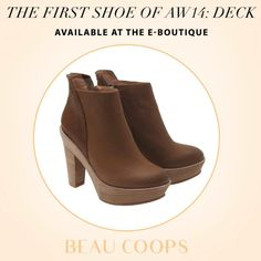Itching to get your hands on the DECK boot? It's online now at the e-boutique.  www.beaucoops.com
