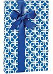 Royal Blue and White Geometric Links Geo Gift Wrap Wrapping Paper - 16ft Roll ** To view further, visit now : Wrapping Ideas