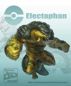 Pokemon Fusion - Electaphan (Electabuzz + Donphan) by *MorganHowell on deviantART