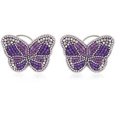 KIKIJEWELS B. Romantic Ear Cuff (9,475 THB) ❤ liked on Polyvore featuring jewelry, purple, purple jewelry and ear cuff jewelry