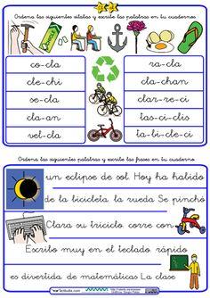 Ordenar palabras y frases con trabadas Cl