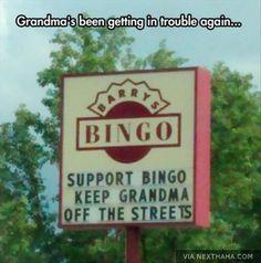 Grandma's a handful