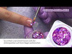 """www.gdn.de #jolifin Illusion Glitter verzaubern Deine Naildesign Jolifin """"Lilac Garden"""" Nailart. #naildesign #glitzer nagelmodellage"""