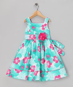 Special occasions call for special dresses. This quality crafted zip-up piece flaunts a full skirt that will twirl like a dream thanks to heavy, textured cotton blend. The bow in back secures a sweet look. Fashion Kids, Little Girl Fashion, Little Girl Dresses, Girls Dresses, Baby Dresses, Dress Girl, Floral Occasion Dresses, Floral Dresses, Toddler Girl Dresses