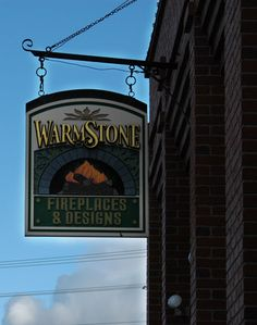 Outside shots of businesses in Livingston, Montana. WarmStone Fireplaces & Design.