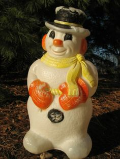 30 snowman yellow blue broom christmas blow mold lights up yard vintage 60s frosty snowman lighted plastic blowmold xmas outdoor yard decor mozeypictures Choice Image