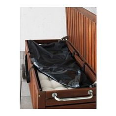 """$19.99  Dimensions: 45 5/8x19 1/4 """" TOSTERÖ Storage bag for pads and cushions - IKEA"""