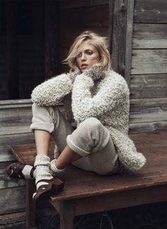 """stormtrooperfashion: Anja Rubik in """"Into the Wild"""" by Lachlan Bailey for Vogue Paris, October 2014"""