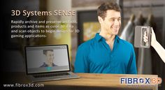 Build 3D archives, product visualizations and communicate your products with 3D Systems SENSE.