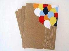 Postcard gift balloons handmade