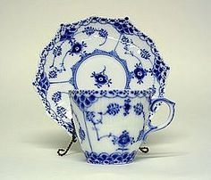 Royal Copenhagen Full Lace Demitasse cup And Saucer