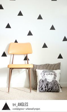 Vinyl Wall Sticker Decal Art Triangles by urbanwalls on Etsy. I need the Triangles in Gold Metallic!!!