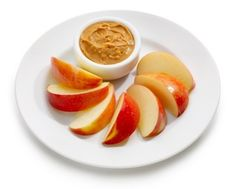 Simple Snack: An apple with peanut butter     More high-fiber ideas: http://blog.womenshealthmag.com/scoop/high-fiber-foods/