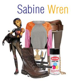 """""""Sabine Wren"""" by disneyfasion ❤ liked on Polyvore featuring Gucci, H&M, Pinko, Moschino, adidas and Steve Madden"""