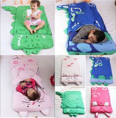 Baby Kid Toddler Cartoon Swaddle Wrap Sleep Bag Sack Bedding Set Cover Comforter