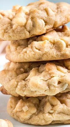 Levain Bakery (inspired) White Chocolate Chip & Macadamia Nut Cookies.