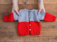 DIY-Anleitung: Babyjäckchen mit ergonomischen Stricknadeln stricken via DaWanda.com