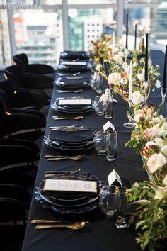 Organic Wedding Table Setting, Navy Wedding Table Setting, H Hotel Wedding Receptions, Wedding Reception Table Decorations, Reception Ideas, Wedding Tables, Wedding Table Toppers, Different Wedding Ideas, Celestial Wedding, Wedding Place Settings, Wedding Places