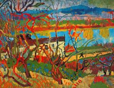The river.  Musée National d'Art Moderne, Centre Georges Pompidou, Paris, France.  Fauvism, Andre Derain (1880-1954).