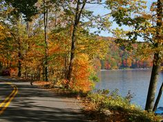 """""""Head to Deep Creek Lake in Maryland to enjoy gorgeous views by car along 2 fall foliage heritage tours. Motor along Route 219 up to the Deep Creek Lake overlook in McHenry for a look at the lake, ski slopes and breathtaking autumn foliage before heading back to the visitors center as part of a 90-minute driving loop."""" -- <i>Erin Gifford, Family Travel Expert, Kidventurous.com</i>"""