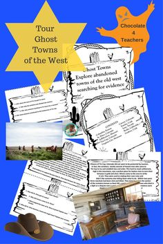 Read the spooky facts about these Ghost Towns and then decide if you would visit one... at night!  25 pages of evidence finding fun!