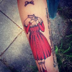 The invisible child, designed and tattooed by me.