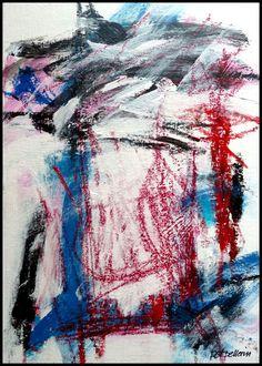 N°746 Pat Pellerin. Acrylique et crayon gras sur carton toilé 30x40 cm.