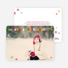 Merry Christmas Simply Photo Cards from Paper Culture