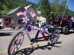 stars and stripes bike decorations bike parade