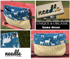 """WALLBAG """"Deer's in Desert"""" - decorate your home and use this bag to store the little things everyone has. Handmade with certified organic cotton. Blue Backgrounds, Decorating Your Home, Storage Spaces, Organic Cotton, Deserts, Birthdays, Things To Come, Store, Handmade"""
