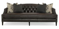 """Diane Stationary Sofa by BernhardtBernhardt Diane Contemporary Sofa with Button-Tufted Back and Sloped Track Arms at Belfort Furniture  Part of the Diane Collection Sku: N9087L  89"""" x 38.5"""" x 35.5"""""""