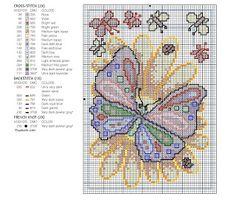 Cousas miñas: Mariposas en punto de cruz