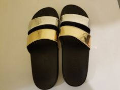 Like New Victoria's Secret Pink slides. Size L/XL. Only worn once. My feet are too wide to fit them. Pink Sandals, Women's Shoes Sandals, Heels, Pink Slides, Victoria's Secret Pink, Fit, Fashion, Heel, Moda
