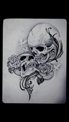 New tattoo sleeve filler men sugar skull 67 ideas – skull tattoo sleeve Skull Couple Tattoo, Skull Rose Tattoos, Couple Tattoos, Body Art Tattoos, New Tattoos, Tatoos, Ehe Tattoo, Tattoo Tod, Death Tattoo